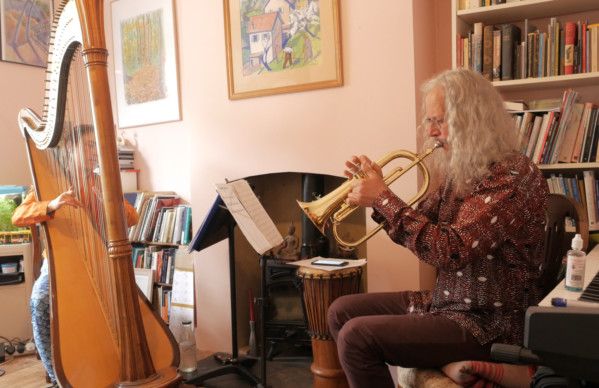 David Mowat and harpist Emmy Broughton